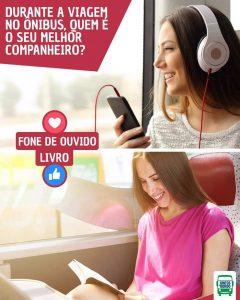 Passagem de Ônibus: dicas de viagem de ônibus: ouça música ou leia um livro